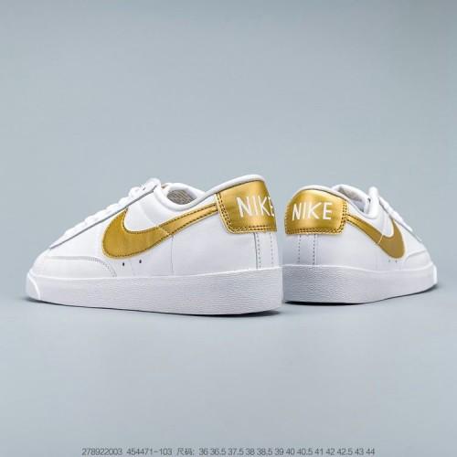 Women's Nike Blazer Premium Low White Brown 454471-103