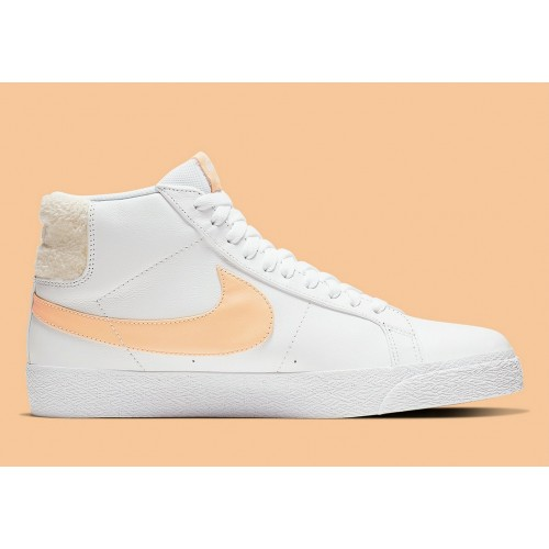 Women's Nike SB Blazer Mid White Core Gold CJ6983-102