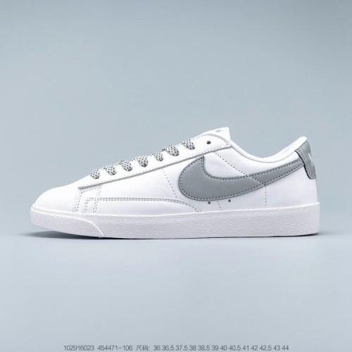 Women's Nike WBlazer Low Premium White Blue 454471-107