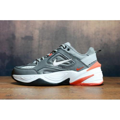 Men's 2019 Nike M2K Tekno Metallic Silver Orange Black White