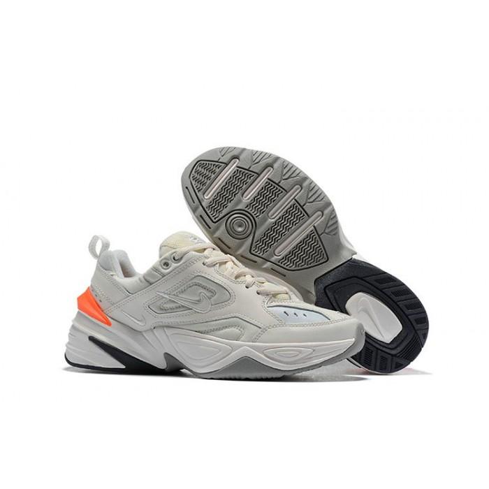 Women's Nike M2K TEKNO White Orange Grey Black