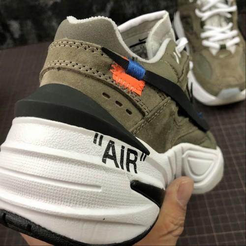 Women's Nike M2K Tekno x Off White AO3108-580 Phantom Oil Grey Matte Silver