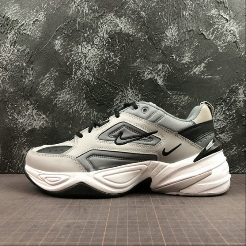 Men's Nike M2K Tekno AV4789-007 Pure Platinum Black White