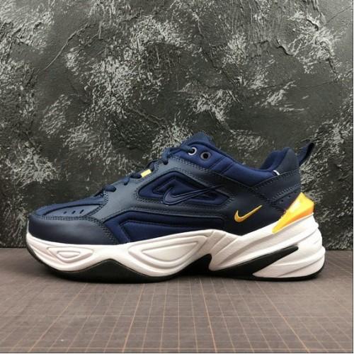 Men's Nike M2K Tekno AV4789-400 Midnight Navy Laser Orange