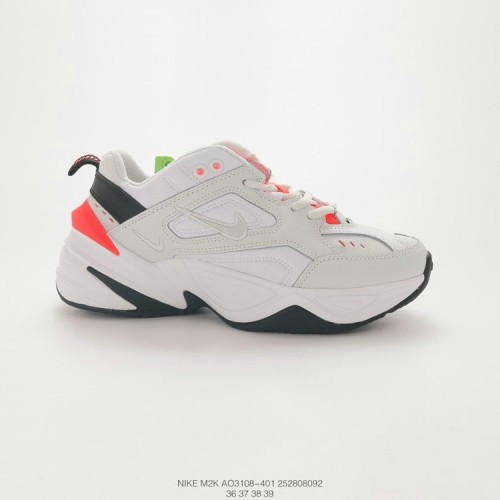 Women's 2019 Nike Zoom M2K Tekno White Black Orange AO3108-401