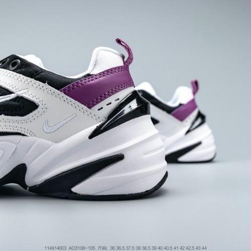 Women's 2019 Nike Zoom M2K Tekno White Black Pink AO3108-105