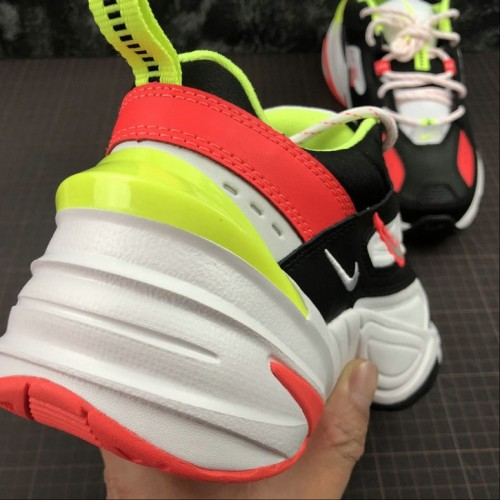 Women's 2019 Nike M2K Tekno Black Crimson Volt CI2969-003