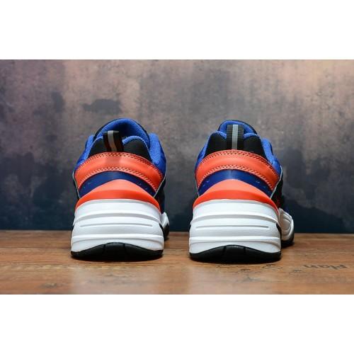 Women's 2019 Nike M2K Tekno Blue Orange White Black