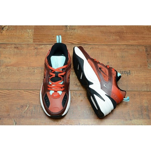 Women's 2019 Nike M2K Tekno Orange Chocolate White Black