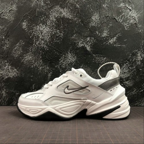 Women's 2019 Nike M2K Tekno White Cool Grey Chunky Running Shoes
