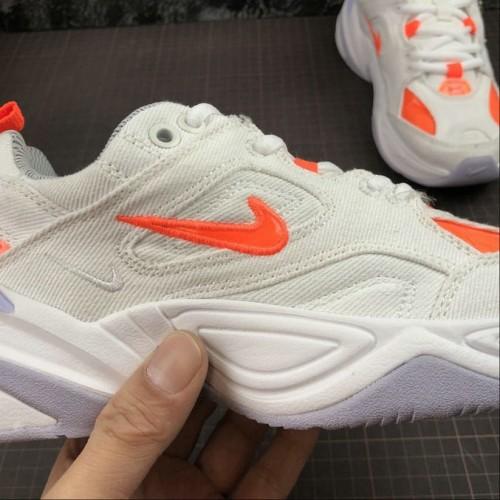 Women's 2019 Nike M2K Tekno Lifestyle Shoe White Orange