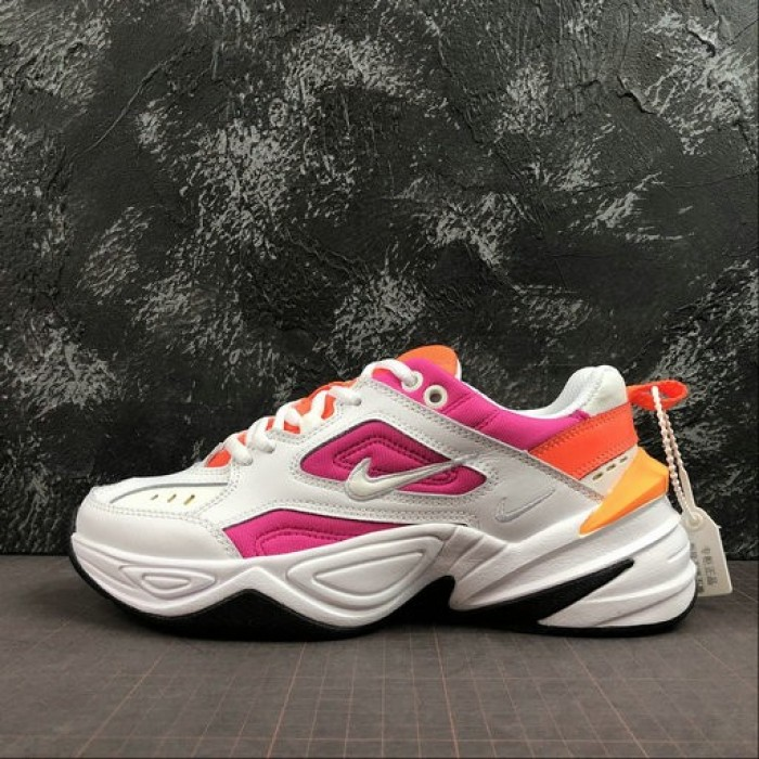 Women's 2019 Nike M2K Tekno white pink orange AO3108-104