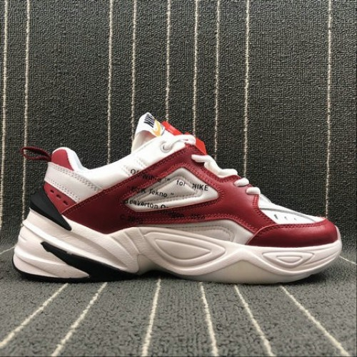 Women's Nike M2K Tekno x Off White AO3108-060 Red White Rouge