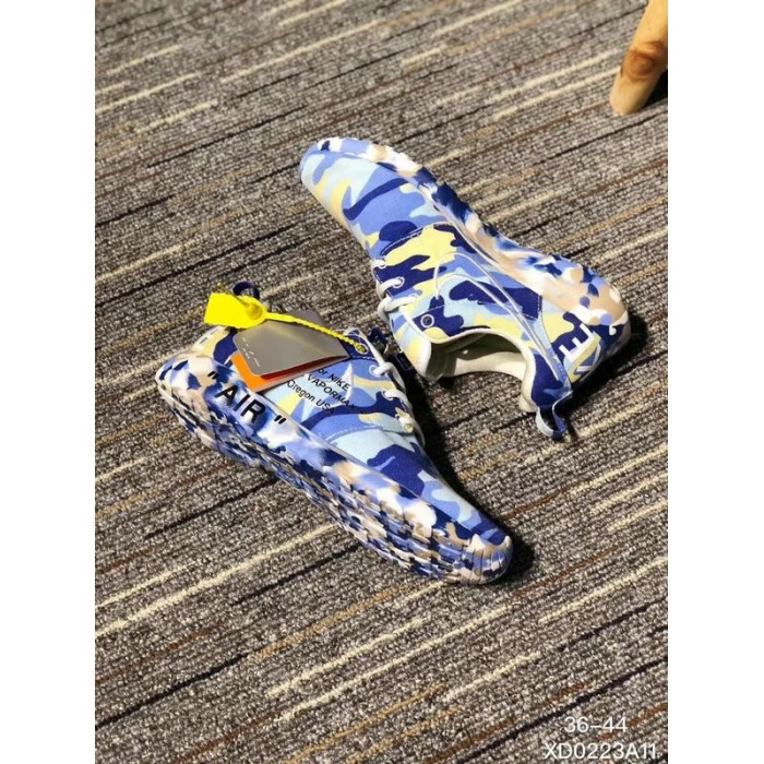 Men's 2018 New Nike Shoes Off White x Nike Roshe Run Print Space Blue