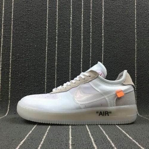 Men's 2018 Nike Lab Off-White x Nike Air Force 1 AF1 White