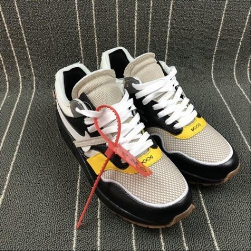 Men's 2018 Nike Lab Off-White x Nike Air Max 1 Black White Grey