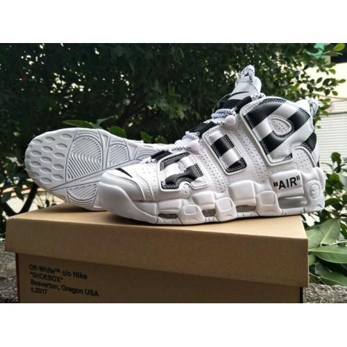 Men's 2018 Nike Lab Off-White x Nike Air More Uptempo Black White