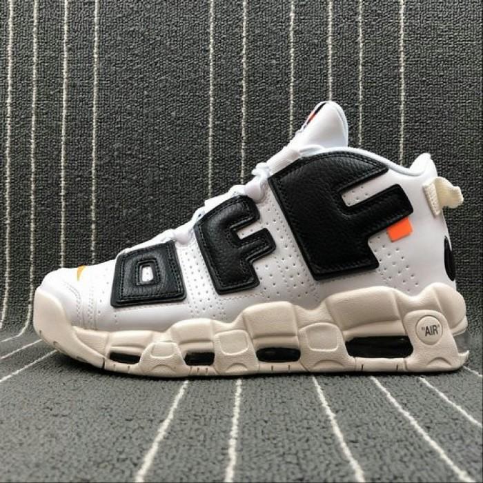 Levántate Milagroso Médula ósea  Cool Nike x Off White Style,Men's 2018 Nike Lab Off-White x Nike Air More  Uptempo White Black Orange