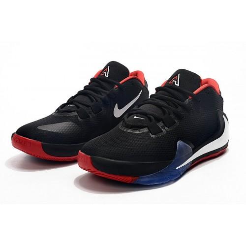 Men's 2019 2019 Nike Zoom Freak 1 Black Red White