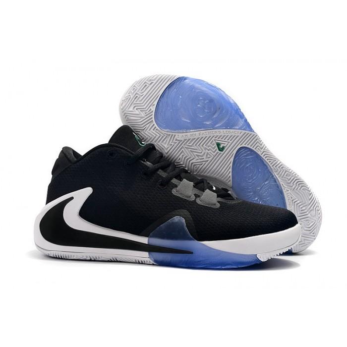 Men's 2019 2019 Nike Zoom Freak 1 Black White Blue