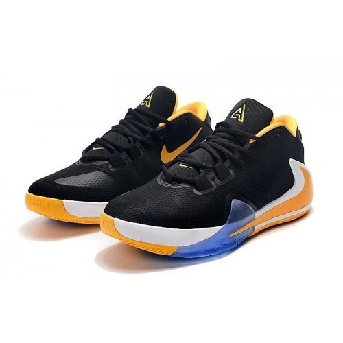 Men's 2019 2019 Nike Zoom Freak 1 Yellow Black White