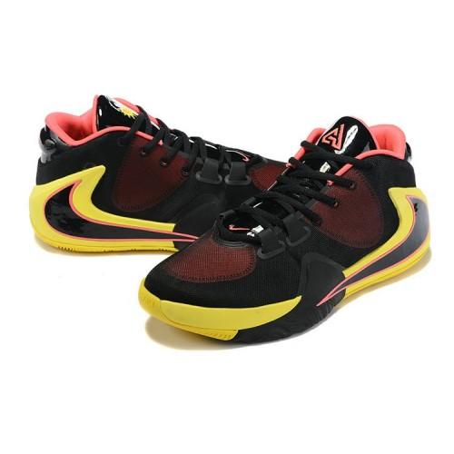 Men's 2019 Nike Zoom Freak 1 Yellow Black Hyper Pink